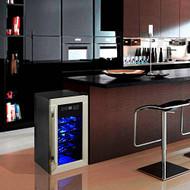 Electric Wine Cooler - Wine Chilling Refrigerator Cellar (8-Bottle) (R-PKTEWC08)