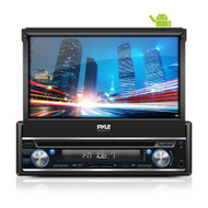Single DIN Android Stereo Receiver System with Pop-Out Touchscreen, GPS Navigation, Bluetooth & Wi-Fi Streaming (R-PL7ANDIN)