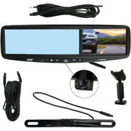 HD Vehicle Backup Camera System - DVR Dual Camera Rearview Mirror Video Recording, Waterproof Night Vision Cam, 1080p (R-PLCMDVR8)