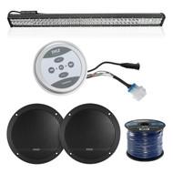 "Pyle Universal Bluetooth Speaker & Amp System, Pyle LED 36"" Light Bar, 50Ft Wire (R-PLMRKT9-PCLED36B234)"