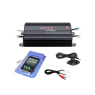 Bluetooth Marine Amplifier Kit, 4-Ch. Waterproof Audio Power Amp System (R-PLMRMB4CW)