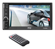 "6.5"" Touch Screen Stereo Radio Receiver with Bluetooth Streaming, Hands-Free Call Answering, USB/SD Memory Card Readers, AUX/MP3 Input, Double DIN (R-PLRUB69)"