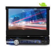 Single DIN Android Stereo Receiver System with Pop-Out Touchscreen, GPS Navigation, CD/DVD Player, Bluetooth & Wi-Fi Streaming (R-PLTDAND72)