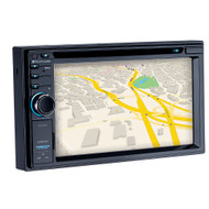 """Planet 6.2"""" Double Din DVD/MP3/CD Receiver Bluetooth USB/SD Front Aux Input (R-PML9660B)"""
