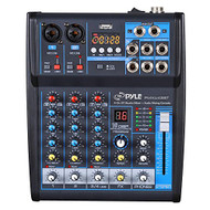 4-Ch. Bluetooth Studio Mixer - DJ Controller Audio Mixing Console System (R-PMXU43BT)