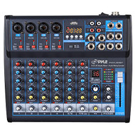8-Ch. Bluetooth Studio Mixer - DJ Controller Audio Mixing Console System (R-PMXU83BT)