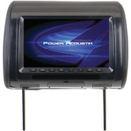 "POWER ACOUSTIK H-91CC Universal Headrest Monitor with IR Transmitter & 3 Interchangeable Skins (9"") (R-POWH91CC)"