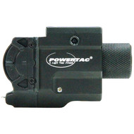POWERTAC 815698013856 550-Lumen Marksman LED Tactical Flashlight with Laser Light (R-PWTMARKG1)