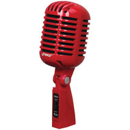 PYLE PRO PDMICR42R Classic Retro-Style Dynamic Vocal Microphone (Red) (R-PYLPDMICR42R)