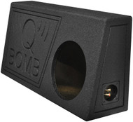 "Qpower Single 10"" Truck Ported Spl Empty Woofer Box With Bed Liner Spray (R-QBTRUCK110V)"