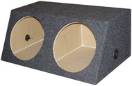 """Empty Woofer Box (2)10"""" Qpower Angled Style (Smallbass10) (R-QSMBASS10)"""