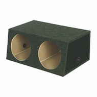 """EMPTY WOOFER BOX (2)12"""" QPOWER ANGLED STYLE (LARGEBASS12) (R-QSMBASS12LG)"""