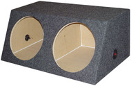 """Empty Woofer Box (2)15"""" Qpower Angled Style (R-QSMBASS15)"""