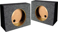 "*Tw10S* Empty Split Woofer Box; 10"" Angle; Qpower (R-QTW10S)"