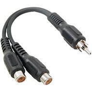 RCA AH25R RCA Y-Adapter (1 Male to 2 Females) (R-RCAAH25R)