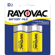 RAYOVAC 6D-2BF Heavy-Duty Carded D Batteries, 2 pk (R-RVC6D2BF)