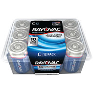 RAYOVAC 814-12PPJ Alkaline Batteries Reclosable Pro Pack (C, 12 pk) (R-RVC81412PPF)