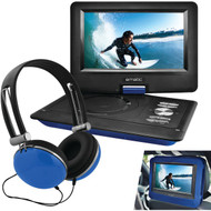 "EMATIC EPD116BU 10"" Portable DVD Player with Headphones & Car-Headrest Mount (Blue) (R-SHAGEPD116BU)"