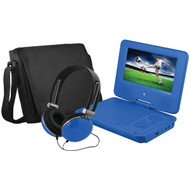 "EMATIC EPD707BU 7"" Portable DVD Player Bundles (Blue) (R-SHAGEPD707BU)"