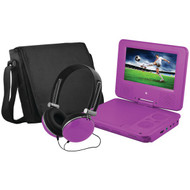 "EMATIC EPD707PR 7"" Portable DVD Player Bundles (Purple) (R-SHAGEPD707PR)"