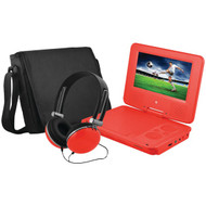 "EMATIC EPD707RD 7"" Portable DVD Player Bundles (Red) (R-SHAGEPD707RD)"