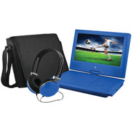 "EMATIC EPD909BU 9"" Portable DVD Player Bundles (Blue) (R-SHAGEPD909BU)"