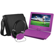 "EMATIC EPD909PR 9"" Portable DVD Player Bundles (Purple) (R-SHAGEPD909PR)"
