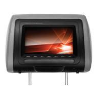 "Soundstorm 7"" Headrest Monitor Built In Dvd Player 3 Colors Bk/Gr/Tan (R-SHR73M)"