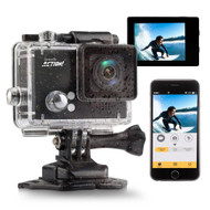 Compact ACTION! Cam - 4K Ultra HD WiFi Camera with Slo-Mo Recording, 1080p+ Sports Action Camera + Camcorder (Black) (R-SLDV4KBK)