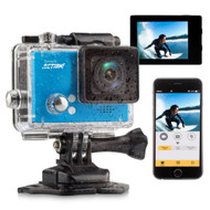 Compact ACTION! Cam - 4K Ultra HD WiFi Camera with Slo-Mo Recording, 1080p+ Sports Action Camera + Camcorder (Blue) (R-SLDV4KBL)