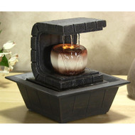 Water Fountain - Relaxing Tabletop Water Feature Decoration (R-SLTWF35LED)