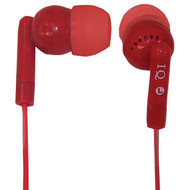 Supersonic IQ-106 RED Porockz Stereo Earphones (Red) (R-SSCIQ106RED)