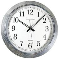 "TIMEKEEPER 401ZWA 16"" Galvanized Metal Silver Wall Clock (R-SSS401ZWA)"