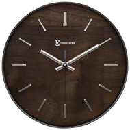 """TIMEKEEPER A4003FW 11"""" Hastings Walnut Wall Clock with Chrome Accent (R-SSSA4003FW)"""