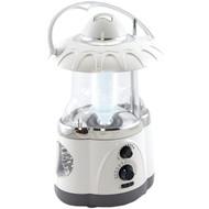 North Point 190475 12-LED Lantern with 4-LED Flashlight & AM/FM Radio (White) (R-STLA190475)