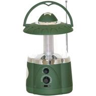 North Point 190485 12-LED Lantern with 4-LED Flashlight & AM/FM Radio (Green) (R-STLA190485)