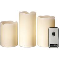 North Point GM8236 3-Piece LED Flicker Candle Set (R-STLAGM8236)