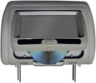 """Tview 7"""" In Headrest Monitor With Dvd Player Built In Speakers Remote Gray (R-T737DVPLGR)"""