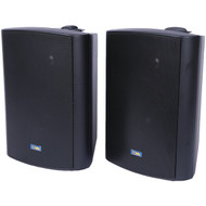 TIC CORPORATION ASP120B Indoor/Outdoor 120-Watt Speakers with 70-Volt Switching (Black) (R-TICASP120B)