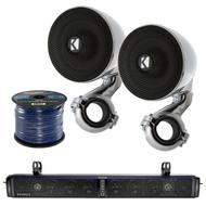Hifonics 10-Speaker Bluetooth Soundbar,2X Kicker 4ohm Marine Speaker System,Wire (R-TPS10-1-40PSM34)