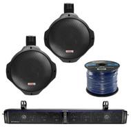 """Hifonics 10-Speaker Bluetooth Soundbar, 2X 8"""" Marine Speakers, 50Ft Wire (R-TPS10-1-PLMRB85)"""