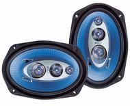 Pair Pyle PL6984BL 6''x 9'' 400 Watt Four-Way Speakers Car Audio