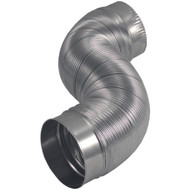"""DEFLECTO AM42 Semi-Rigid Flexible Aluminum Duct (4"""" dia x 2ft) (R-VENAM42)"""