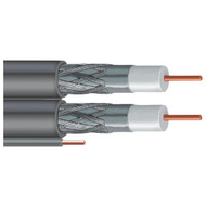 VEXTRA V266GW GRAY DISH(R)-Approved Dual RG6 Cable with Ground, 500ft (Gray) (R-VEXV266GWGRY)