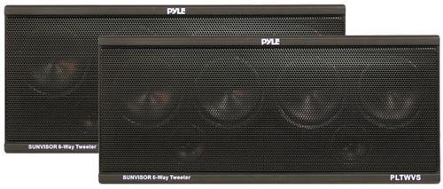 Pyle PLTWVS 6-Way Sunvisor Mount 200 Watt Tweeter System Car Audio