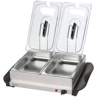 BETTY CROCKER BC-2587CY Stainless Steel Buffet Server with Warming Tray (R-WACBC2587CY)