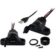 INSTALL BAY CUSB21U-8 Waterproof Flush-Mount USB Charging/Data Socket (R-MECCUSB21U8)