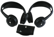 Pyle PLVWH6 Dual Wireless IR Mobile Video Stereo Headphones w/Transmitter