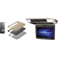 """POWER ACOUSTIK PMD-112 11.2"""" Ceiling-Mount Swivel DVD Entertainment System with IR & FM Transmitters & 3 Interchangeable Skins (R-POWPMD112)"""