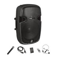 "Wireless & Portable Bluetooth Loudspeaker - Active PA Speaker System Kit, Built-in Rechargeable Battery (12"" Subwoofer, 1000 Watt) (R-PPHP1241WMU)"